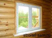Как установить пластиковое окно в деревянном доме?