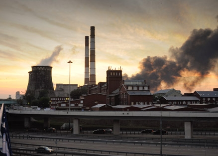 В промышленных зонах Москвы