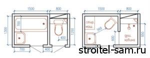 варианты расстановки мебели в ванной комнате