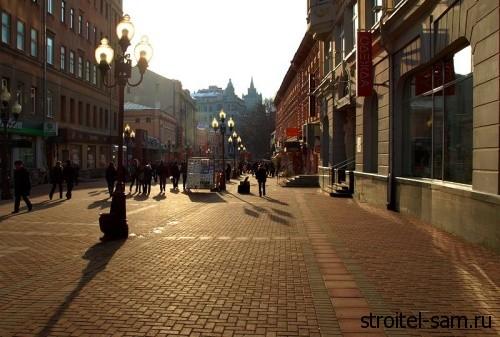 пешеходные зоны Москвы