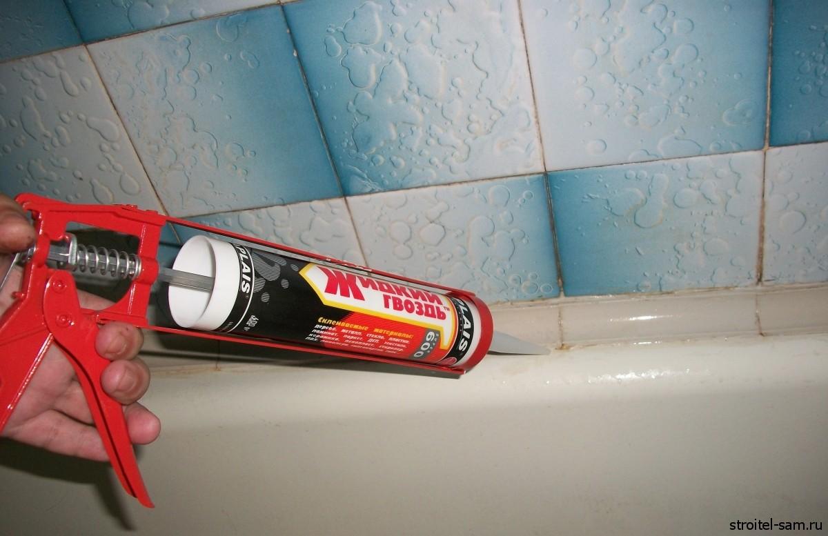 Жидкие гвозди для ванн