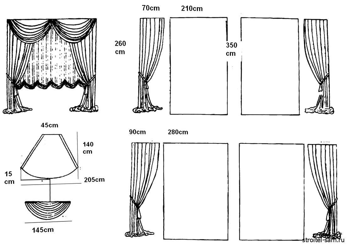 Сшить шторы для дома своими руками 240