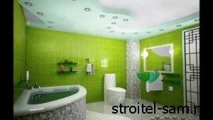 Зеленый интерьер ванны